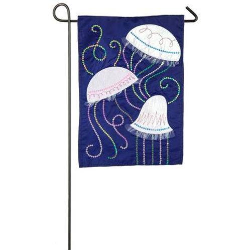 """Jellyfish 168770 Evergreen Applique Garden Flag 12.5"""" x 18"""""""