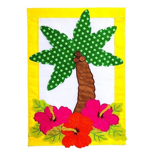 "Palm Trees 168666BL Evergreen Applique Garden Flag 12.5"" x 18"""