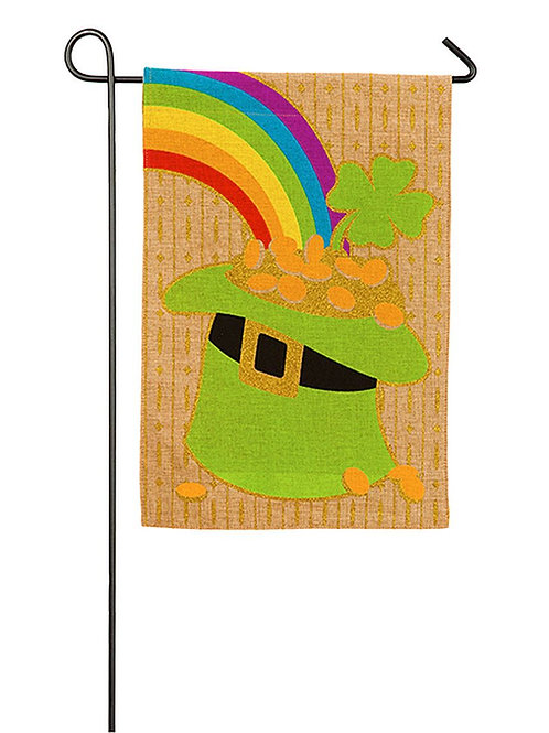 "Hat of Gold 14B4023BL Evergreen Burlap Garden Flag 12.5"" x 18"""