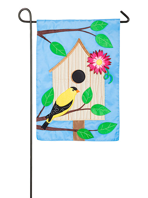 "Welcome Y'all Birdhouse 168649BL Evergreen Applique Garden Flag 12.5"" x 18"""