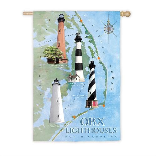 "North Carolina Lights 13S5103 Evergreen Suede HOUSE Flag 28"" x 44"""
