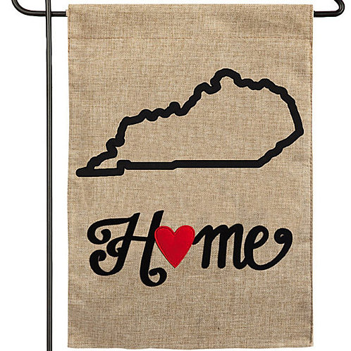 "Kentucky State of My Heart 14B4009 Evergreen Burlap Garden Flag 12.5"" x 18"""