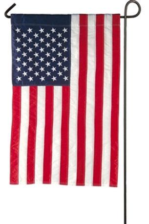 """American Flag 11220 Evergreen Applique Garden Flag 12.5"""" x 18"""""""