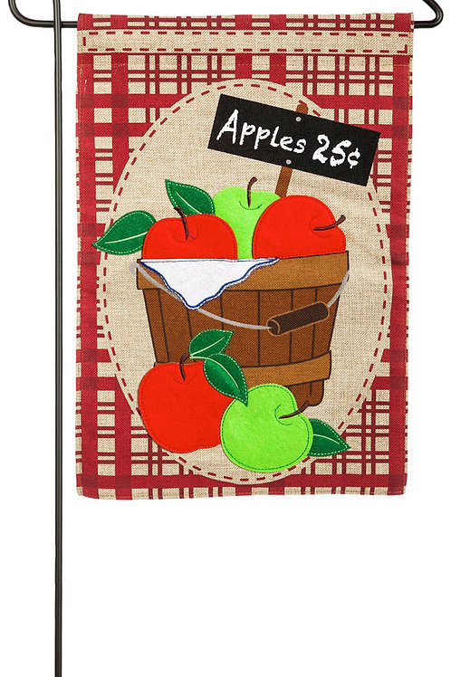 "Apple Basket 14B3844 Evergreen Burlap Garden Flag Pet 12.5"" x 18"""