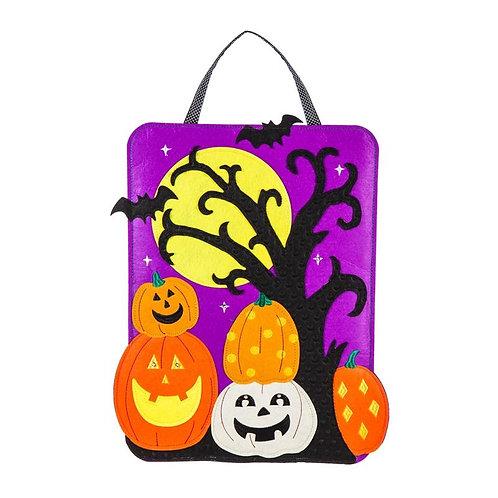 Halloween Scene Lighted Door Décor 2DHF1363BL Evergreen Door Hanger