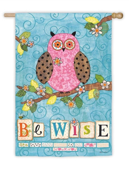 """**OPEN FLAG** Be Wise 13S2327 Evergreen Suede HOUSE Flag 28"""" x 44"""""""