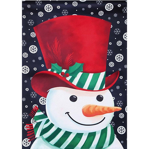 """Snowman 13S8283 Evergreen Suede HOUSE Flag 28"""" x 44"""""""