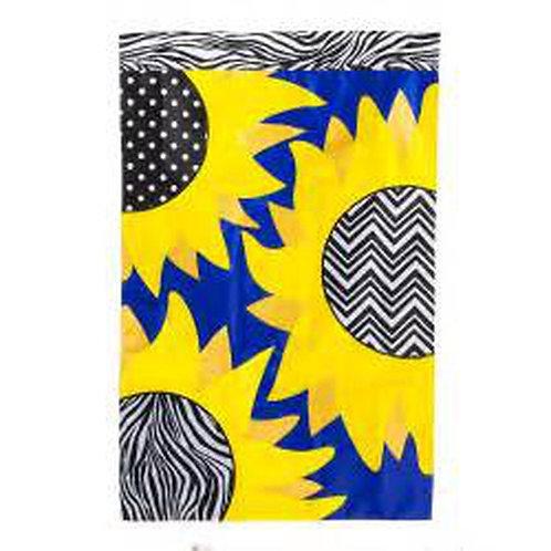 "Sunflower Patch 15827 Evergreen Applique HOUSE Flag 28"" x 44"""