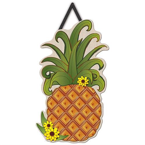 Pineapple Letter Perfect Door Décor 2DHB1291 Evergreen Door Hanger