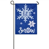 """Let It Snow 168843 Evergreen Applique Garden Flag 12.5"""" x 18"""""""