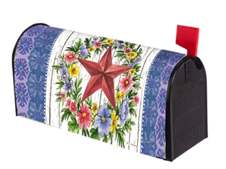 Summer Country Star Evergreen Mailbox Cover 56611