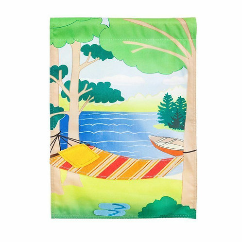 "Relaxing Days 14L4416 Linen Garden Flag 12.5"" x 18"""