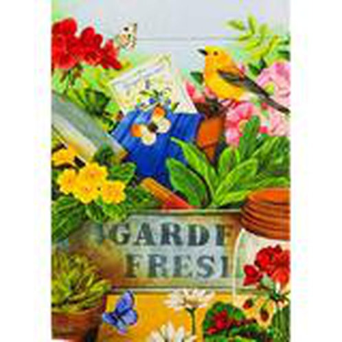 """**OPEN FLAG NO PACKAGING** Gardeners Table 13S4134 Suede HOUSE Flag 28"""" x 44"""""""