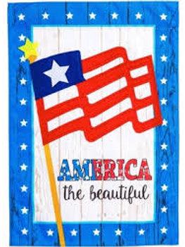 "America The Beautiful 13L4197 Evergreen Linen HOUSE Flag 28"" x 44"""