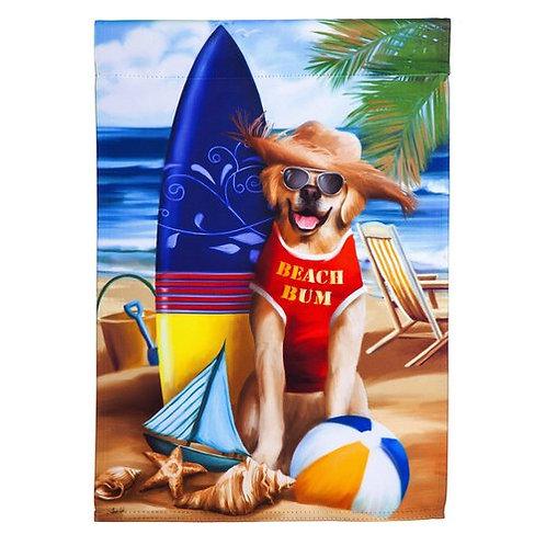 "Beach Bum 14S4466 Evergreen Suede Garden Flag 12.5"" x 18"""
