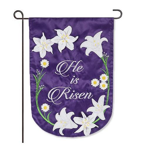 """Easter Lily Garden 168909 Evergreen Applique Garden Flag 12.5"""" x 18"""""""
