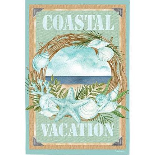 "Coastal Vacation 14S4799 Evergreen Suede Garden Flag 12.5"" x 18"""