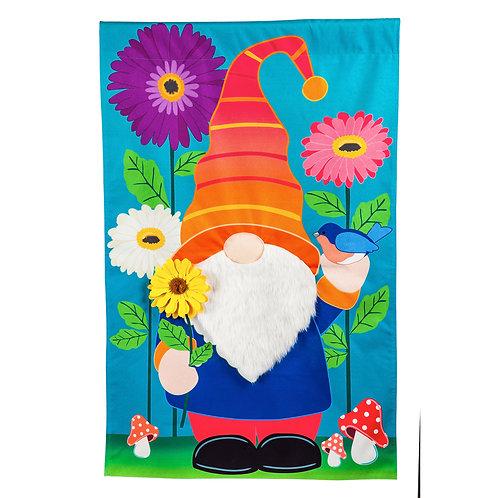 """Garden Gnome 14L9670 Evergreen Linen Garden Flag 12.5"""" x 18"""""""
