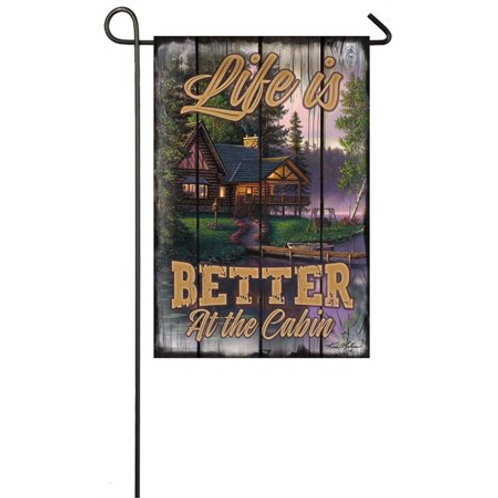 "Beside Still Waters 14S4118 Evergreen Suede Garden Flag 12.5"" x 18"""
