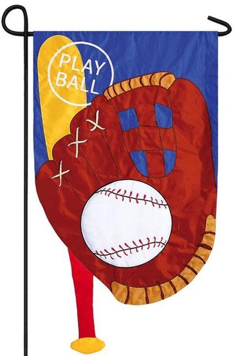 """Play Ball 168445 Evergreen Applique Garden Flag 12.5"""" x 18"""""""