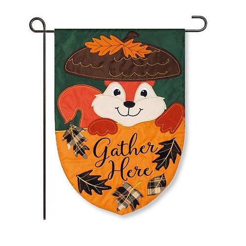 """Squirrel 168824 Evergreen Applique Garden Flag 12.5"""" x 18"""""""