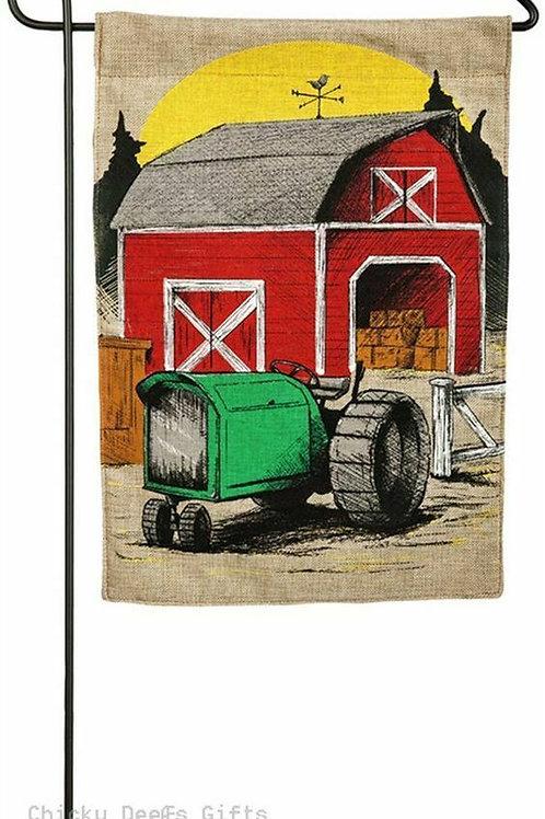 """Harvest Barn 14B3878 Evergreen Burlap Garden Flag 12.5"""" x 18"""""""