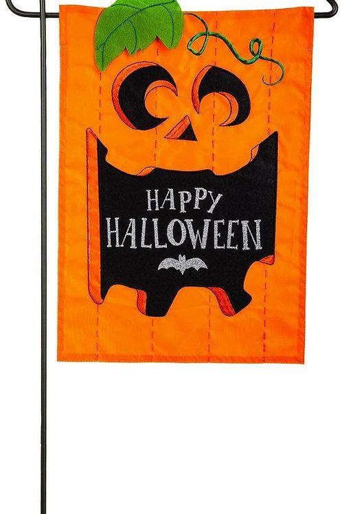 "Happy Halloween 168591 Evergreen Applique Garden Flag 12.5"" x 18"""