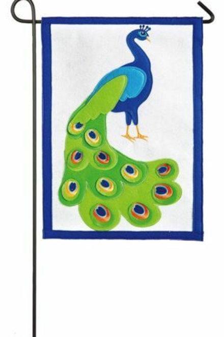 "Peacock 16F8484 Evergreen Felt Garden Flag 12.5"" x 18"""