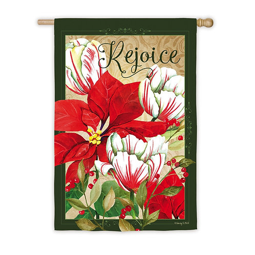 """**OPEN FLAG** Rejoice 13S8220 Evergreen Suede HOUSE Flag 28"""" x 44"""""""