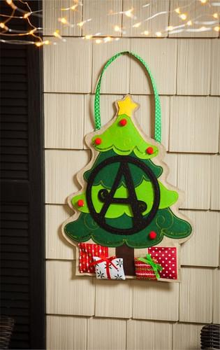 Christmas Tree Letter Perfect Monogram B