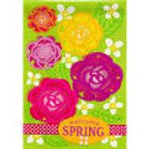 "*OPEN FLAG* Welcome Spring Garden Flowers 14B4028 Burlap Garden Flag 12.5""x18"""