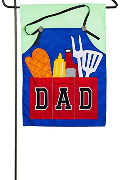 "Dads Grill Tools 168651 Evergreen Applique Garden Flag 12.5"" x 18"""