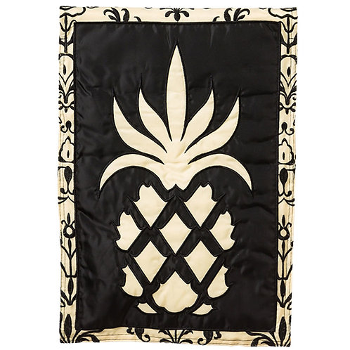 "Traditional Pineapple 16SL7830 Solar LED Applique Garden Flag 12.5"" x 18"""