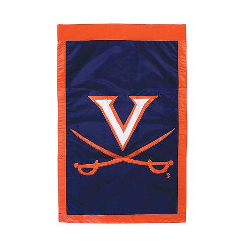 """NCAA Team Sports Virginia Cavaliers 15901 APPLIQUE HOUSE Flag 28"""" x 44"""""""