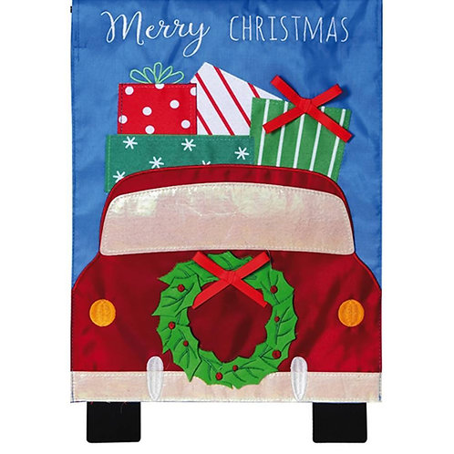 "Holiday Travel 168883 Evergreen Applique Garden Flag 12.5"" x 18"""