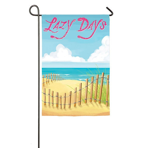 """FOTM May Lazy Days 14S3005 Evergreen Suede Garden Flag 12.5"""" x 18"""""""