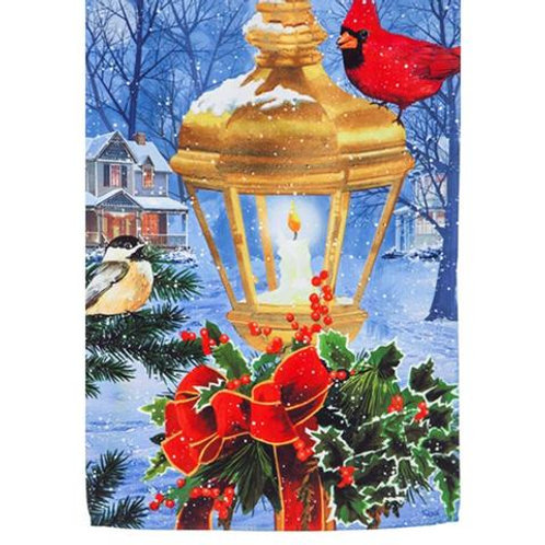"""Birds on Post 13S4625BL Evergreen Suede HOUSE Flag 28"""" x 44"""""""