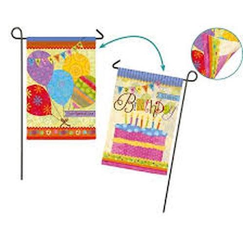 "**SALE**Birthday Banners 14S4105FB Evergreen Suede Garden Flag 12.5"" x 18"""