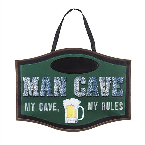 Man Cave Door Decor 2DHB1377 Evergreen Door Hanger