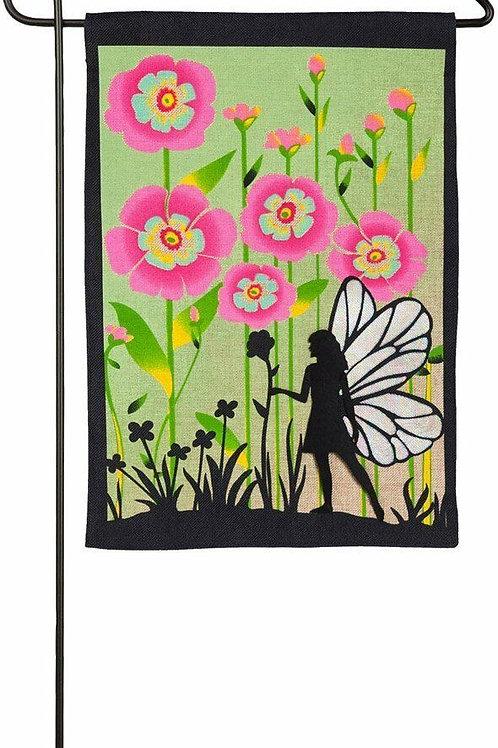 "Garden Fairy 14B4007BL Evergreen Burlap Garden Flag 12.5"" x 18"""