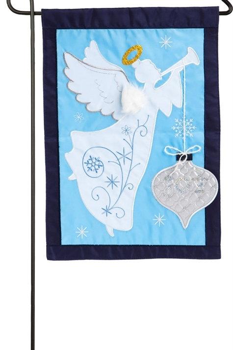 "Joyful Christmas 168716BL Evergreen Applique Garden Flag 12.5"" x 18"""