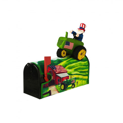 Patriotic Uncle Sam 3-D Evergreen Mailbox Cover 56622