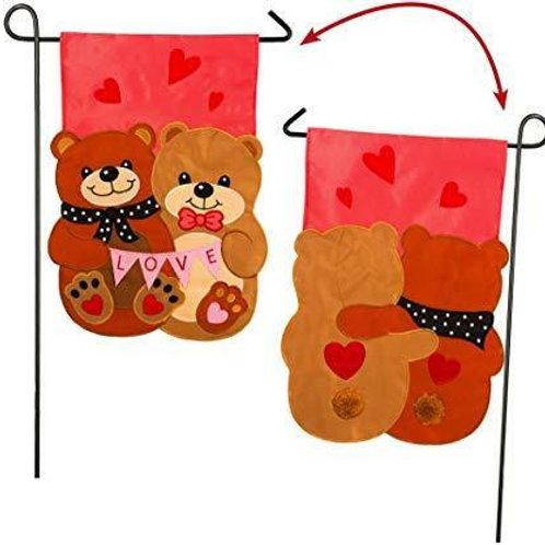 "Love Bears All Things 168616FB Evergreen Applique Garden Flag 12.5"" x 18"""
