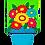 """Thumbnail: Flower Pot 168632BL Evergreen Applique Garden Flag 12.5"""" x 18"""""""