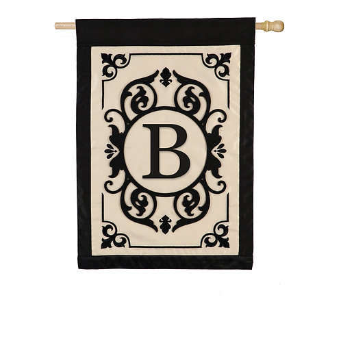 "Cambridge Monogram 159004B Evergreen Applique HOUSE Flag 28"" x 44"""