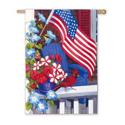 "Patriotic Perch 131027 Evergreen Silk HOUSE Flag 28"" x 44"""
