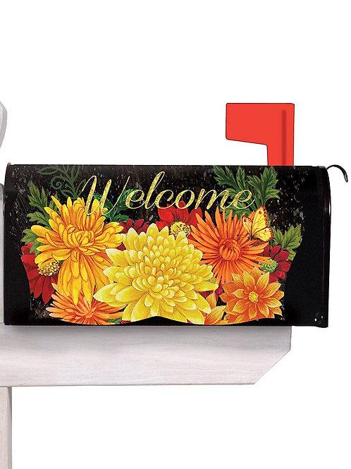 Fall Mums Evergreen Mailbox Cover 56582