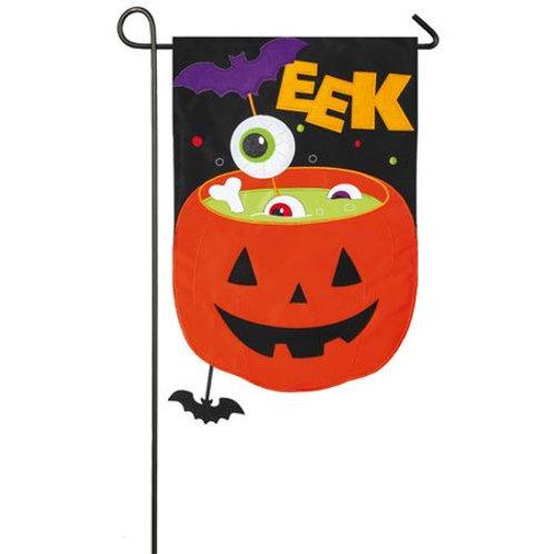 """Halloween Party 168823 Evergreen Applique Garden Flag 12.5"""" x 18"""""""