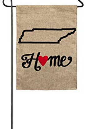 "Tennessee State of My Heart 14B4010 Evergreen Burlap Garden Flag 12.5"" x 18"""