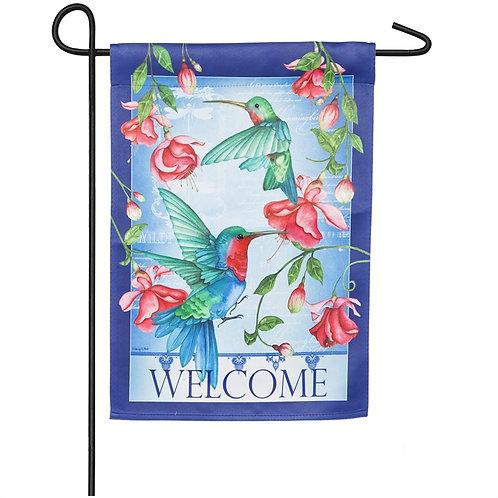 "Hummingbirds 14S8402 Evergreen Suede Garden Flag 12.5"" x 18"""